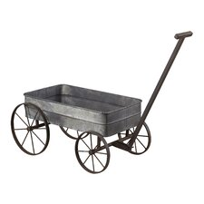 <strong>Sterling Industries</strong> Metal Cart Planter with Handle