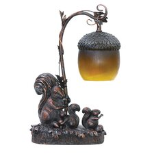 "Squirrel Acorn 14.5"" H Table Lamp with Bowl Shade"