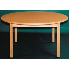 Round Oak Frame Table