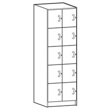 Solid HPL Door Music Storage: 10 Compartments