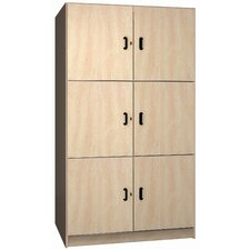 "Solid Melamine Door Music Storage: 3 Equal Compartments with 48"" W"