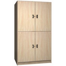 Solid Melamine Door Music Storage: 2 Equal Compartments
