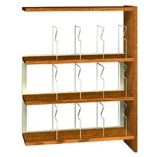 "<strong>Ironwood</strong> Glacier 48"" Single Face Picture Adder Bookcase"