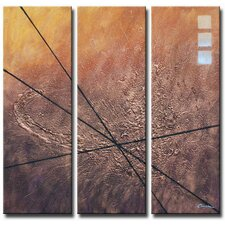 Walk the Lines 3 Piece Original Painting on Canvas Set