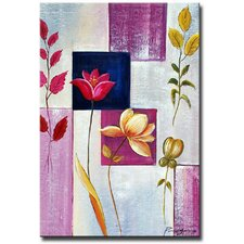 'Lilac Leaves' Canvas Art