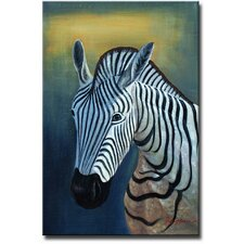 Lonely Zebra Original Painting on Canvas