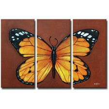 Butterfly Effect 3 Piece Original Painting on Canvas Set