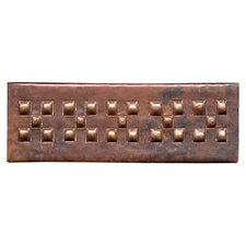 "Checker Band 6"" x 2"" Copper Border Tile in Dark Copper"
