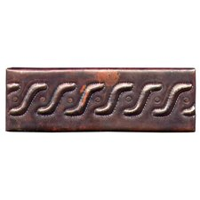 "<strong>D'Vontz</strong> Roman Band 6"" x 2"" Copper Border Tile in Dark Copper"