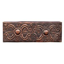 "Egyptian Band 6"" x 2"" Copper Border Tile in Dark Copper"