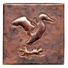 "Gull 4"" x 4"" Copper Tile in Dark Copper"