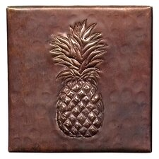 "Pineapple 4"" x 4"" Copper Tile in Dark Copper"