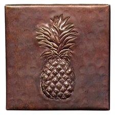 """Pineapple 4"""" x 4"""" Copper Tile in Dark Copper"""