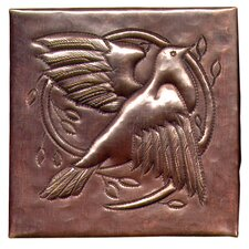 "Dove 4"" x 4"" Copper Tile in Dark Copper"