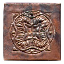 "<strong>D'Vontz</strong> Spanish Mosaic 4"" x 4"" Copper Tile in Dark Copper"