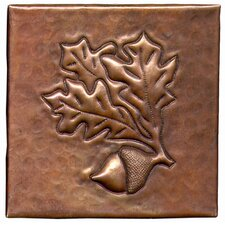 "Acorn 4"" x 4"" Copper Tile in Dark Copper"