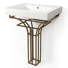 """Iron Virtus 24"""" Single Pedestal Bathroom Vanity Set"""