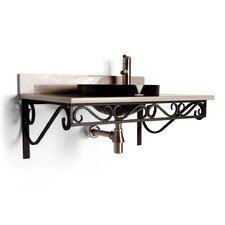 "Iron 30"" x 12"" Bathroom Shelf"