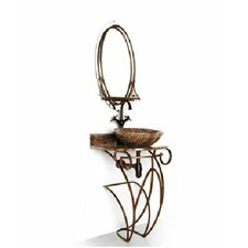 "Iron Victoria 17"" Single Bathroom Vanity Set"