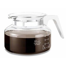 Universal 12 Cup Glass Coffee Replacement Carafe in White