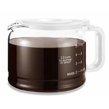 Universal 12 Cup Glass Pause and Serve Coffee Replacement Carafe