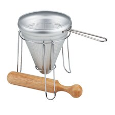 Canning Food Press with Wooden Pestle