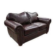 Monte Carlo Leather Sleeper Loveseat