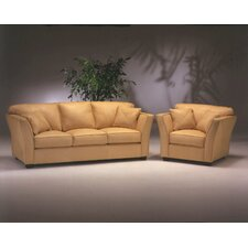 <strong>Omnia Furniture</strong> Manhattan 4 Seat Sofa Leather Living Room Set