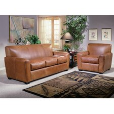 <strong>Omnia Furniture</strong> Jackson Leather Sofa Set
