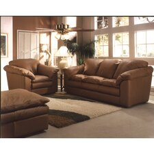 <strong>Omnia Furniture</strong> Oregon 3 Seat Leather Living Room Set