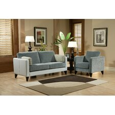 <strong>Omnia Furniture</strong> Bradford 2 Seat Leather Sofa Set