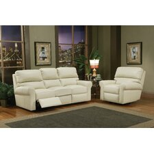 Brookfield Leather Reclining Sofa Living Room Set