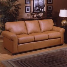 West Point Leather Sleeper Sofa
