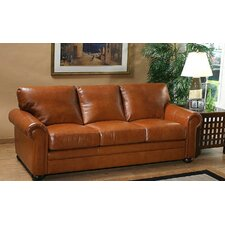 <strong>Omnia Furniture</strong> Georgia Leather 3 Seat Sofa Living Room Set