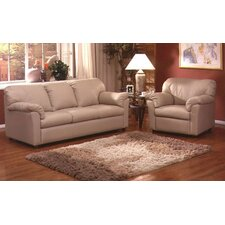<strong>Omnia Furniture</strong> Tahoe Leather 3 Seat Sofa Living Room Set