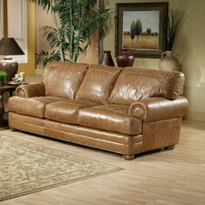 Houston Leather Loveseat