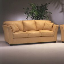 Manhattan Leather Sleeper Loveseat