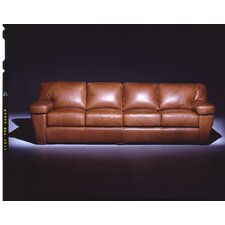 <strong>Omnia Furniture</strong> Prescott  4 Seat Sofa Leather Living Room Set