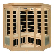 3-4 Person Corner Infrared Sauna with Six Carbon Heaters