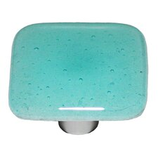 "Glow In The Dark Aqua Glow 1.5"" Square Knob"