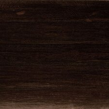 "5-1/2"" High Sheen Antiquity Hand-Scraped 3/4"" Solid Brazilian Angelim Black"