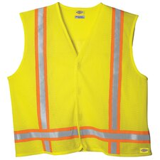Large / Extra Large High Visibility ANSI Class 1 Tri-Co Safety Vest in Yellow