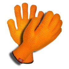 Machine Knit Gloves with Criss Cross PVC Coating