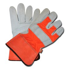 Hi-Vis Split Cowhide Leather Gloves