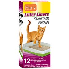 Giant Litter Liners With Ties 12 Count