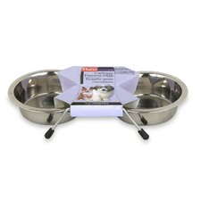 Living Stainless Steel Pet Feeding Dish