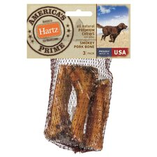 All Natural Premium Chews Smokey Pork Bone Dog Treat (3-Pack)