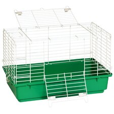 Rabbit Cage with Plastic Tray