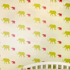Tusk Temporary Wallpaper in Flamingo Pink