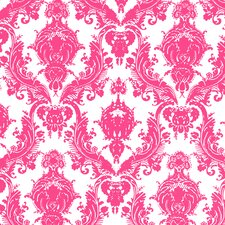 Damsel Temporary Damask Foiled Wallpaper